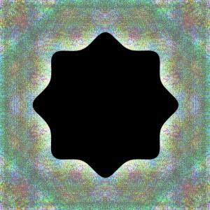 Dark Star is a black eight pointed star on a bluish ground.